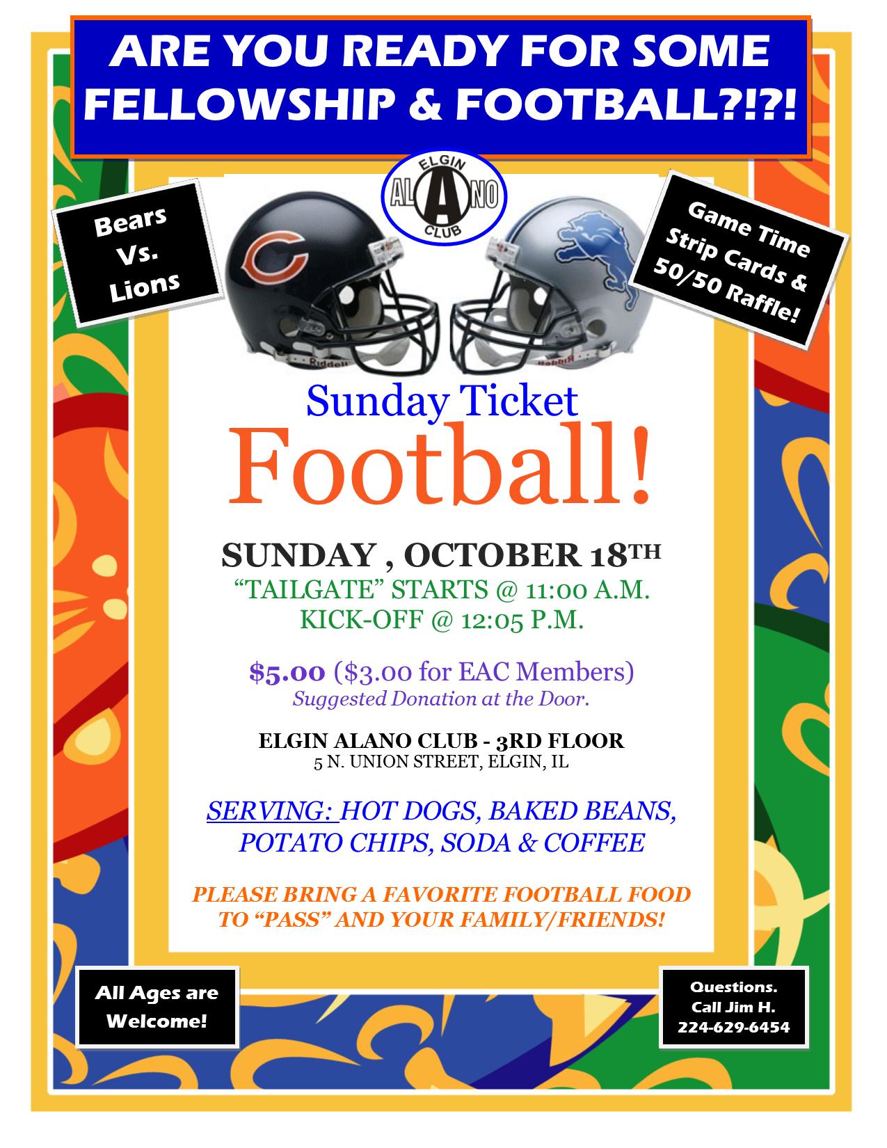 Sunday Ticket Football - Bears Vs. Lions 1
