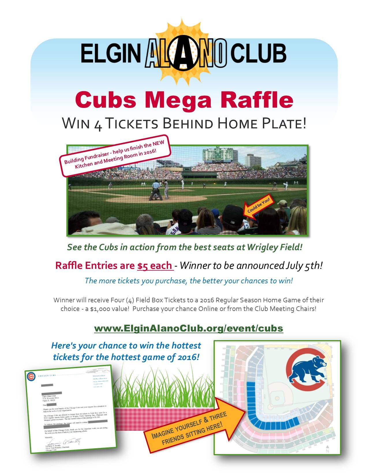 Building Fundraiser - Cubs Tickets Mega Raffle 1