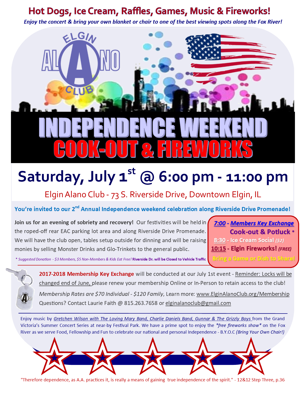 EAC Cook-Out, Fellowship & Fireworks - Membership Key Swap Open House 2