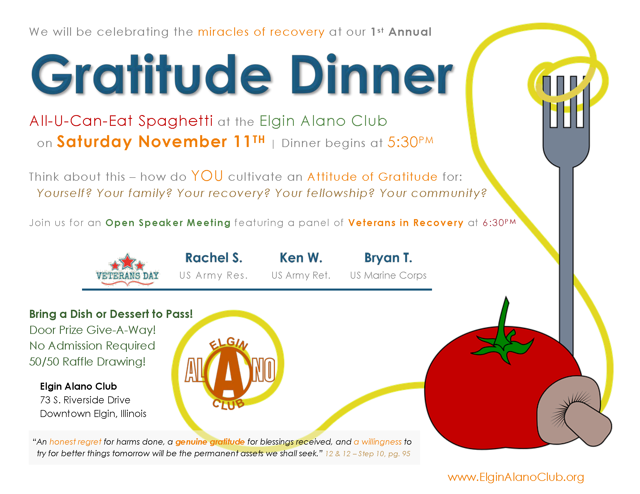 1st Annual Gratitude Dinner & Open Speaker Meeting 2