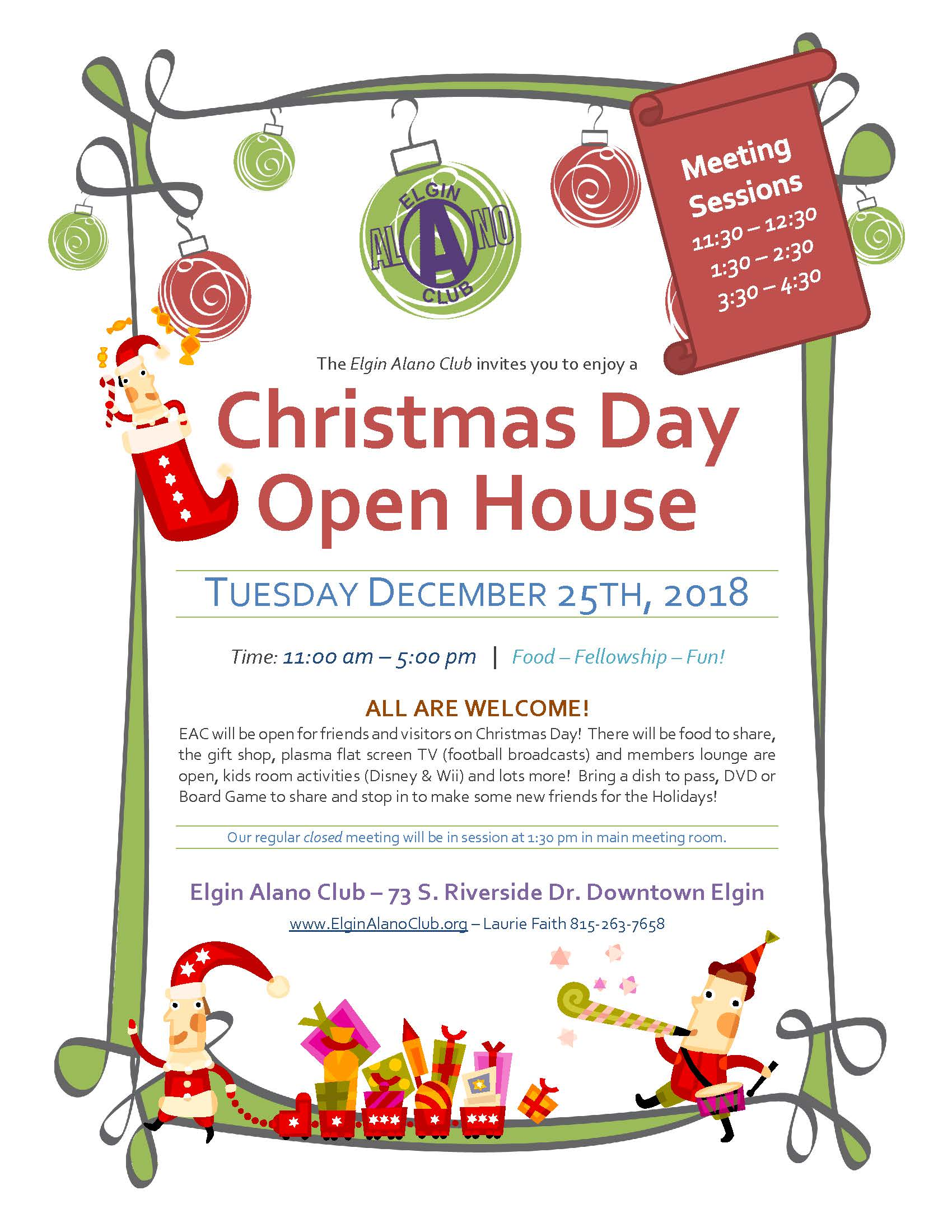 Open House – Elgin Alano Club