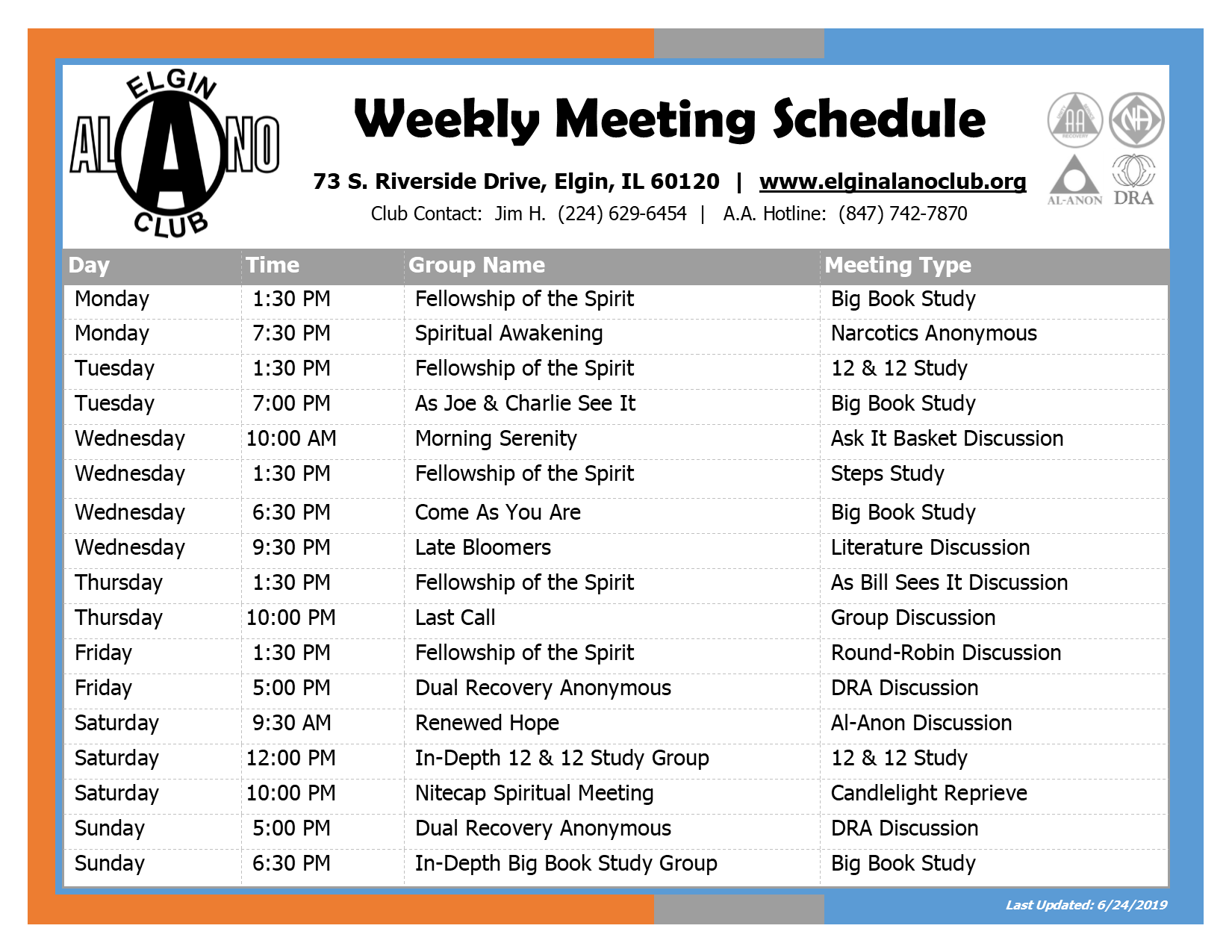 Meeting Schedule 1