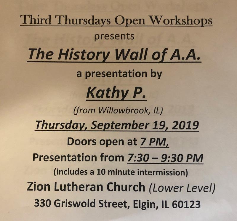 History Wall of AA Workshop 2