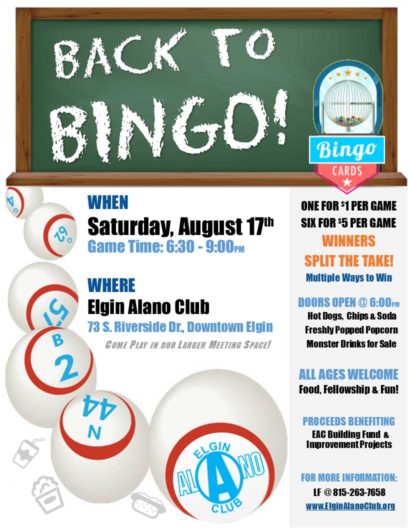 Bingo Flyer 20190817