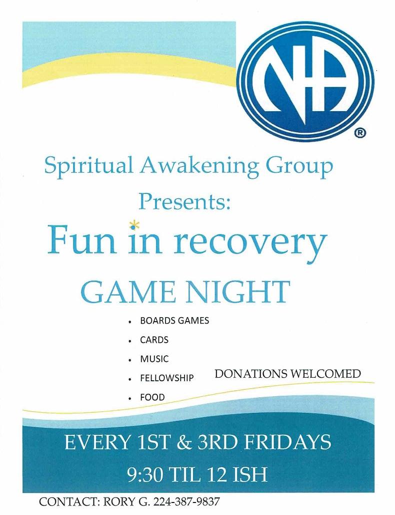 Fun in Recovery Game Night 3